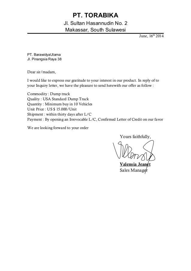 Offer Acceptance Letter