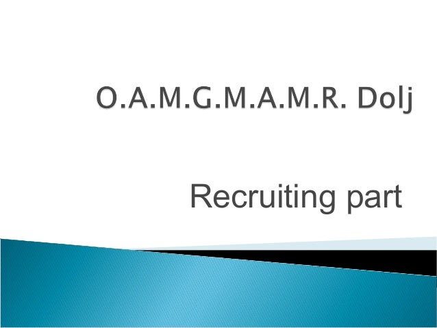 Recruiting part