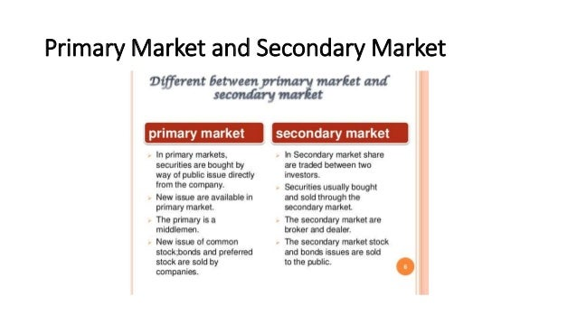 what is a primary market transaction