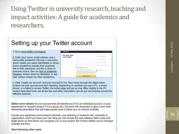 Using Twitter in university research, teaching andimpact activities: A guide for academics andresearchers.                ...
