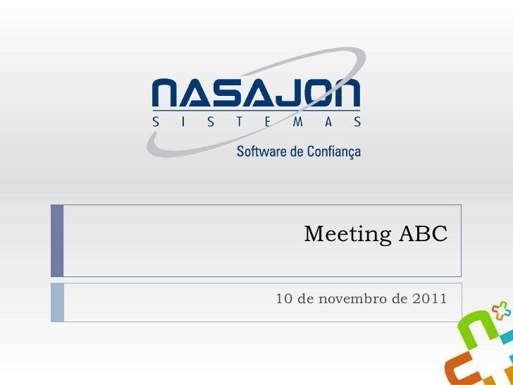Meeting ABC 10 de novembro de 2011