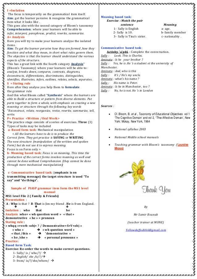 Meeting aeltt teaching grammar algiers may 21st 2016