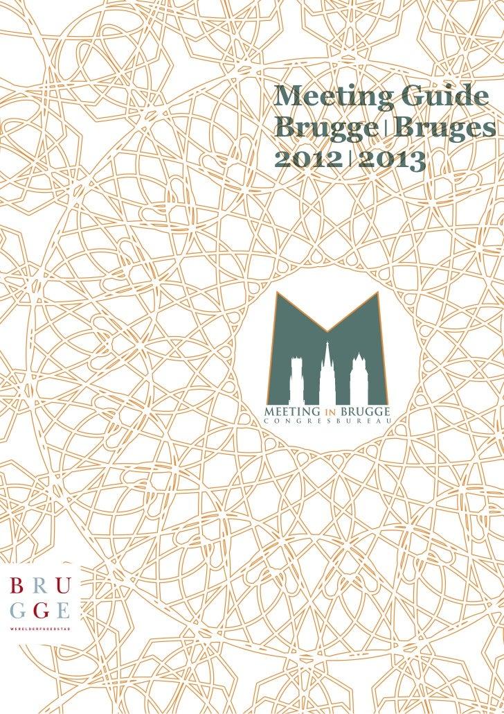Meeting GuideBrugge Bruges2012 2013