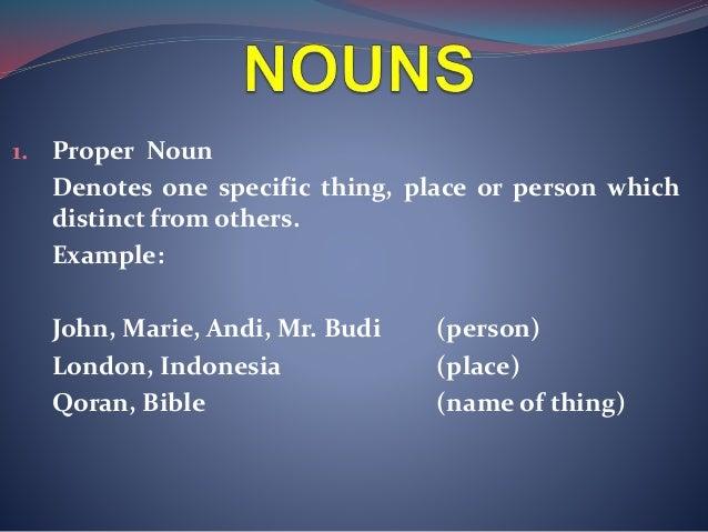 class of words   noun
