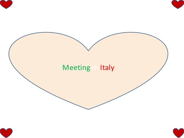 Meeting in Italy