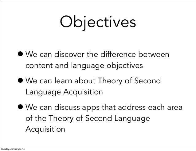 Meeting Language Objectives with Apps