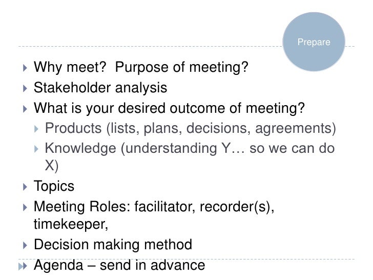 how to run a strategic planning meeting