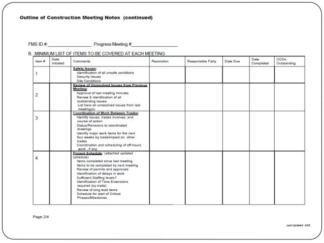 6 AN EXAMINATION OF SAFETY MEETINGS ON CONSTRUCTION