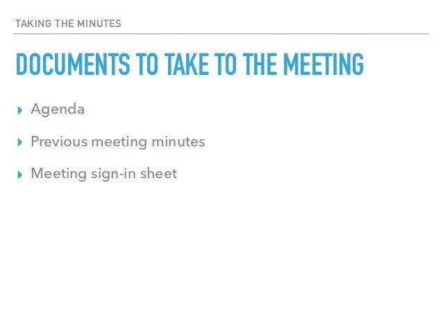 The Painless Guide To Taking Meeting Minutes