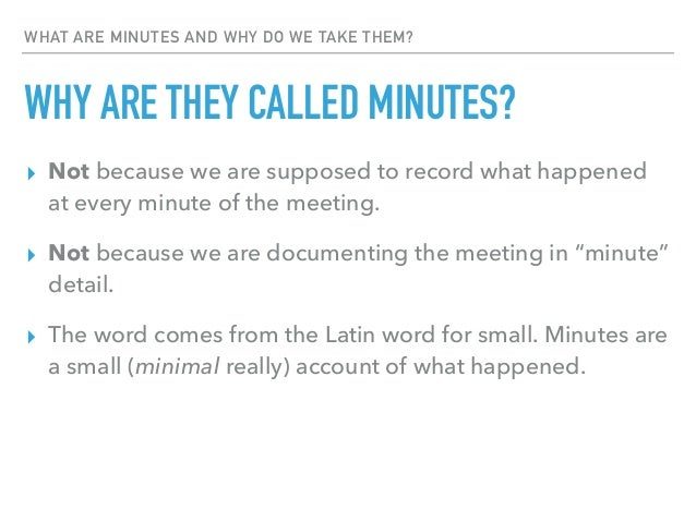 """A quick guide to creating a """"meeting minutes"""" document 