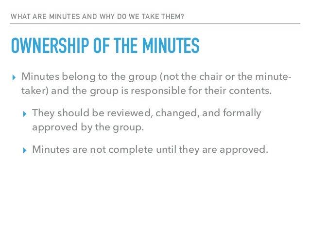 how to take good meeting minutes