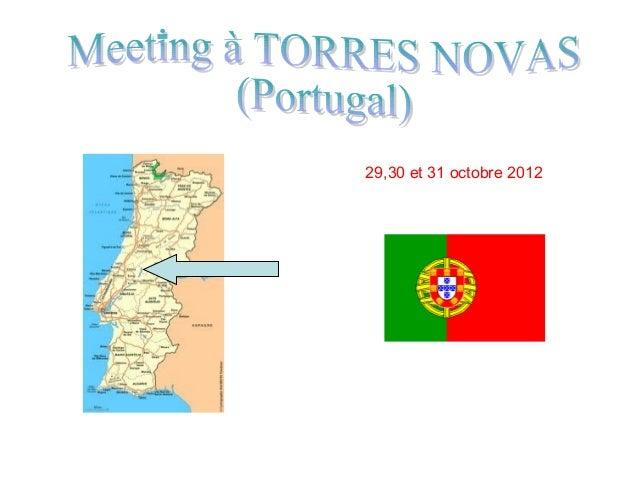 29,30 et 31 octobre 2012