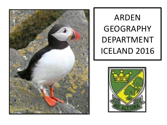 ARDEN GEOGRAPHY DEPARTMENT ICELAND 2016