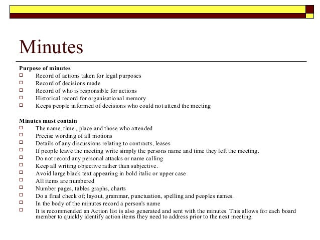 office meeting minutes sample