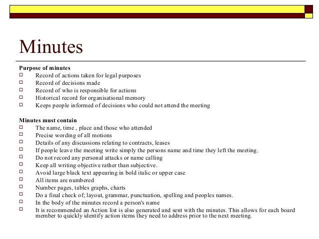 Good Llc Meeting Minutes Format  Proper Minutes Format