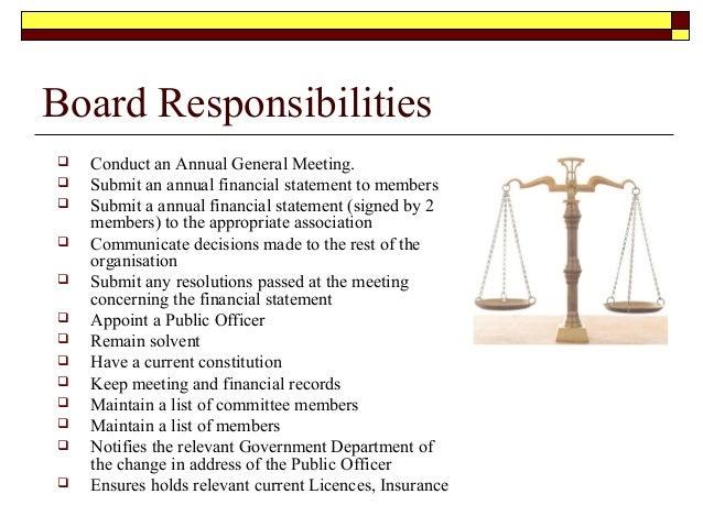 conducting a board meeting