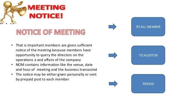Meetings - Company Law Malaysia
