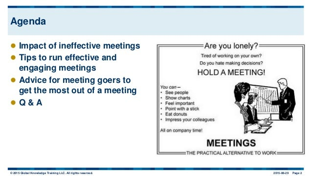 Meetings: From Wasteful to Successful Slide 3