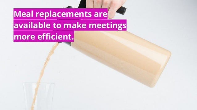 #MACE2016 | @socialtables | 2016 Meal replacements are available to make meetings more efficient.