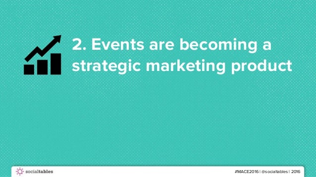 #MACE2016 | @socialtables | 2016 2. Events are becoming a strategic marketing product