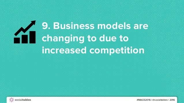 #MACE2016 | @socialtables | 2016 9. Business models are changing to due to increased competition