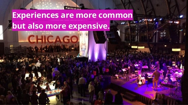 #MACE2016 | @socialtables | 2016 Experiences are more common but also more expensive.