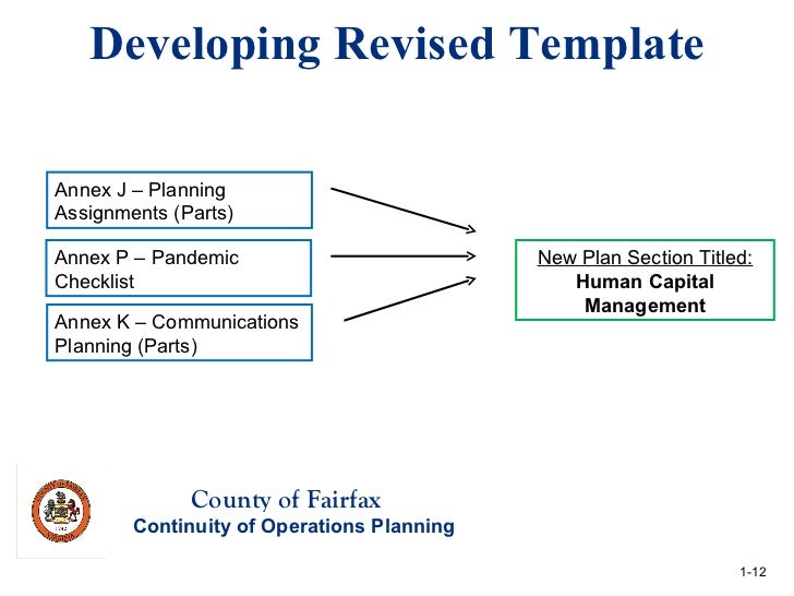 Winter 2012 quarterly meeting agency coop plan reviews for Pandemic preparedness plan template