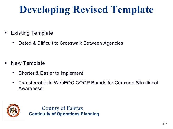 Winter 2012 Quarterly Meeting: Agency COOP Plan Reviews