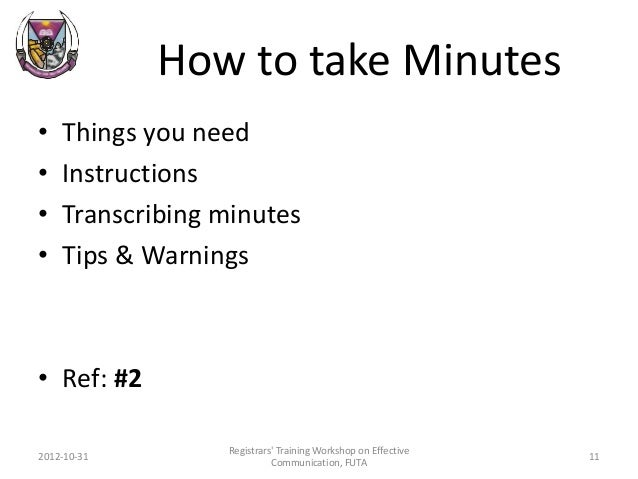 how to take minutes of a meeting