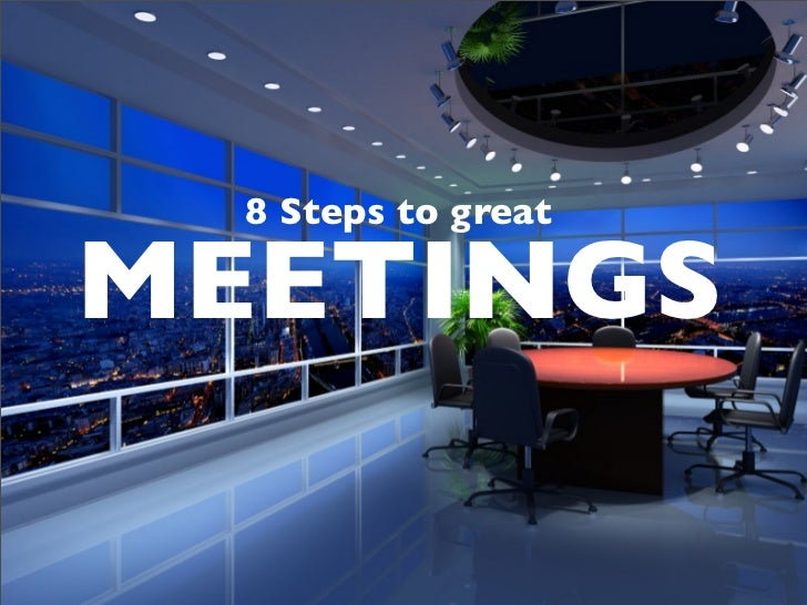 8 Steps to greatMEETINGS