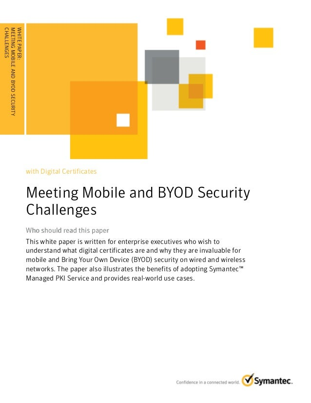 Meeting Mobile and BYOD Security Challenges