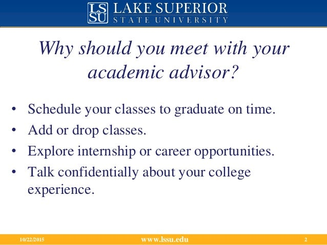 Meeting With Your Academic Advisor