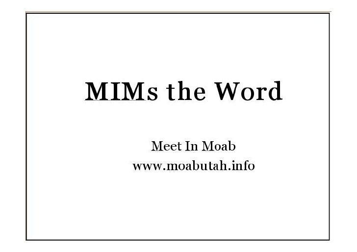Meet in moab