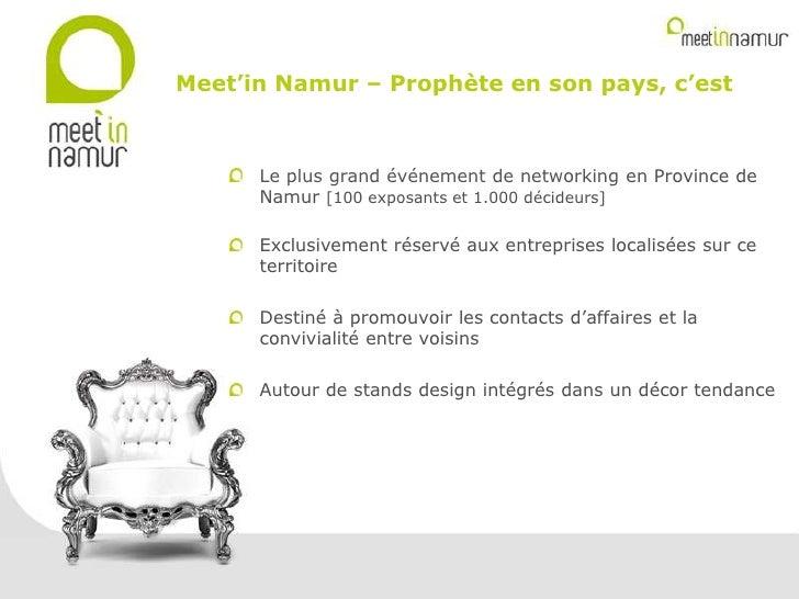 Meet in namur   présentation kick off- slide share Slide 2