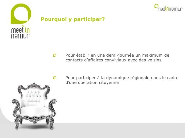 Meet in namur   présentation kick off- slide share Slide 3