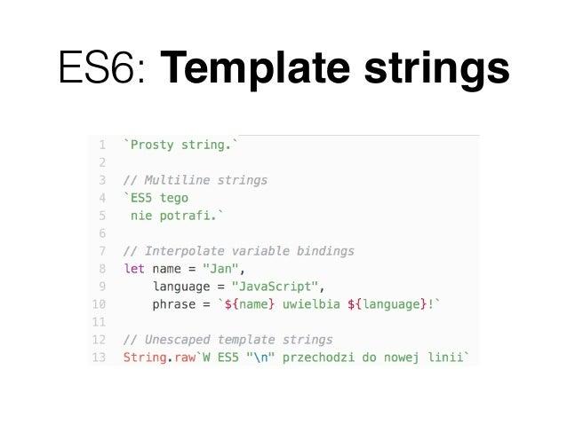 es6 template strings