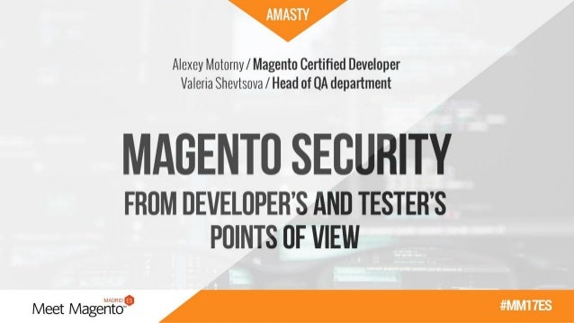 Alexey Motorny 5+ years in Magento development All this time he's been a proud member of Amasty team Took part in 50+ Mage...