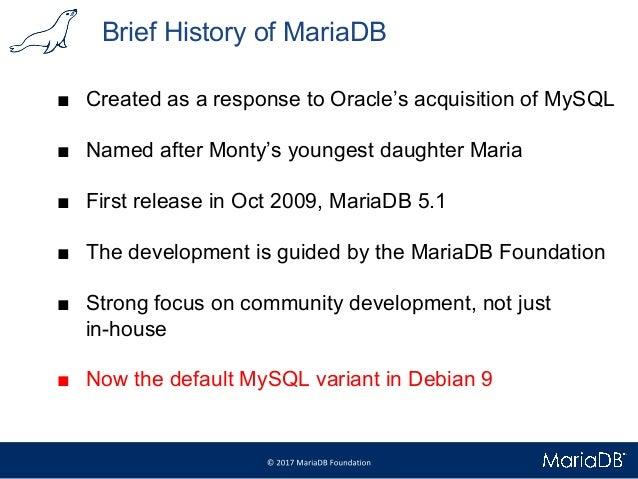 Meet MariaDB 10.3   Debconf 2017 Slide 2