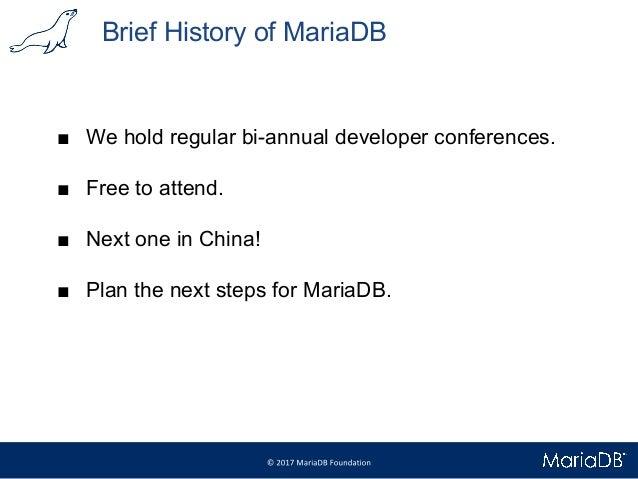 Meet MariaDB 10.3   Debconf 2017 Slide 3