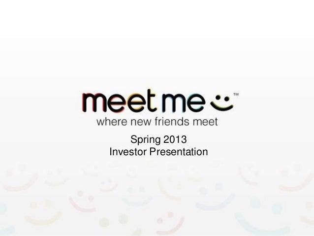 Spring 2013Investor Presentation