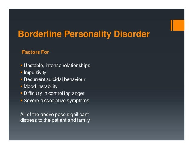 difficulty diagnosing borderline personality disorder in