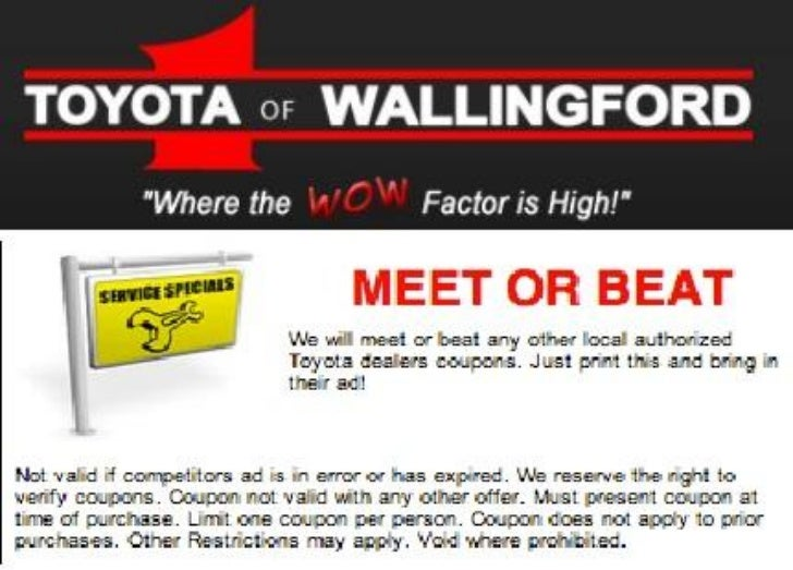 Good Meet Or Beat Coupon Available In Wallingford, CT | Toyota Of Wallingford