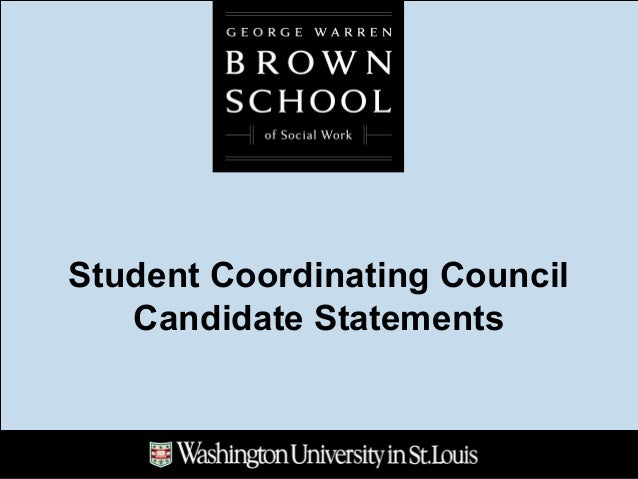 Student Coordinating Council Candidate Statements