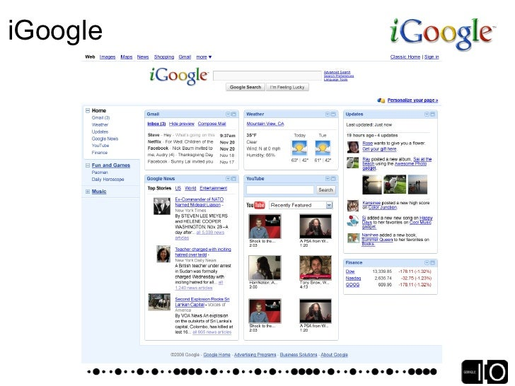 iGoogle Ads    Any provider, only in the canvas view    Soliciting feedback from users Updates    5 per user per day    Te...