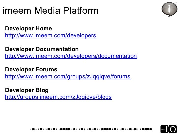 MySpace Overview   OpenSocial on MySpace – now 7 months old, soft-launched back   in February   Supporting REST APIs – ove...