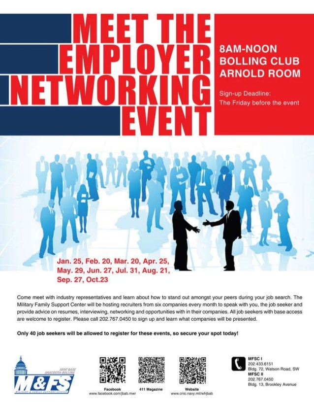 Meet the employer networking event sm