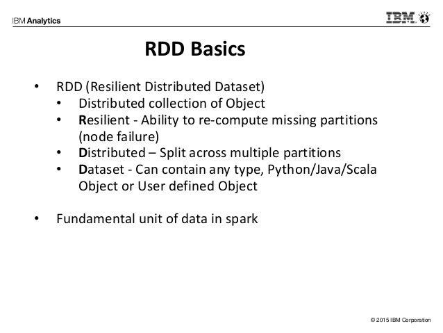 IBM Spark Meetup - RDD & Spark Basics Slide 2