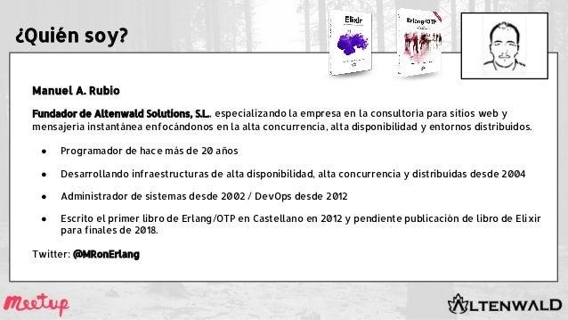 ¿Quién soy? Manuel A. Rubio Fundador de Altenwald Solutions, S.L., especializando la empresa en la consultoría para sitios...