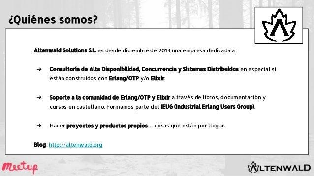 Altenwald Solutions S.L. es desde diciembre de 2013 una empresa dedicada a: ➔ Consultoría de Alta Disponibilidad, Concurre...