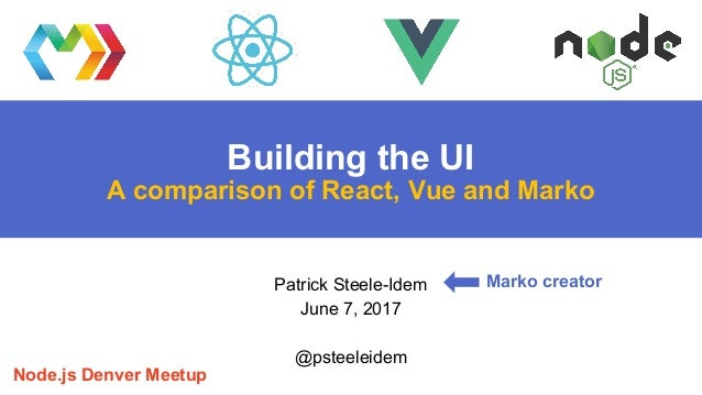 Building the UI: A comparison of React, Vue and Marko